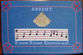 Advent cushion