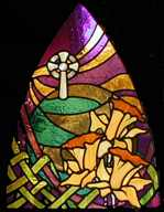 Celtic cross- daffodil window